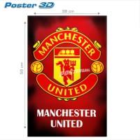 Poster 3D: LOGO MANCHESTER UNITED #3D206 - 38 x 58 cm