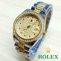 Jual kcb - RLX06GK Jam Tangan Cwk Rolex Full Diamond RUBY GOLD KOMBINASI Murah