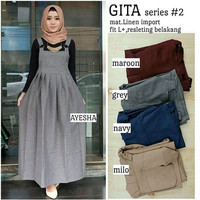 Baju Overall Pakaian Wanita Hijabers Gita Series Murah