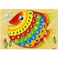 Jual Puzzle Kayu Angka Ikan Puzzle Ikan Puzzle Huruf Ikan Puzzle Kayu Ikan Murah