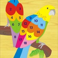 Jual Puzzle Kayu Angka Burung Nuri Puzzle Burung Nuri Puzzle Kayu Murah
