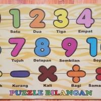 Jual Puzzle Kayu Bilangan Puzzle Kayu Angka Bilangan Murah