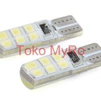 Lampu LED Canbus 12Mata dengan Silika T10 W5W