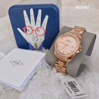 Fossil Riley Stainless Steel Rose Gold Watch BQ3187