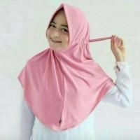 Jual Jilbab / Kerudung / Hijab Instan Serut Polos Murah