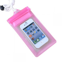 Waterproof Bag for Smartphone Length - YF-190-100 Baby Pink 18 Cm