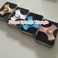 Jual fidget spinner stainless 3Side Twist / SEGITIGA Triangle hand spinner Murah