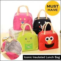 Motif Kartun Wajah Lunch Bag Tas Bekal Tahan Panas Dingin
