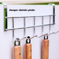 hanger stainless door hook gantungan baju lap alat dapur tanpa paku