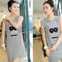 Jual [Dress Owl Misty LT] Dress Wanita Babyterry misty Murah