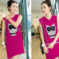 Jual [Dress Owl Fanta LT] Dress Wanita babyterry Fanta Murah