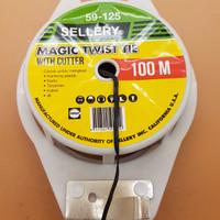 Jual PROMO Pengikat Kabel / Twist Tie 100 meter Warna Hitam Merk SELLERY 59 Murah