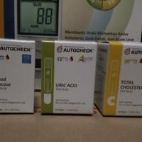 Jual Paket Strip Autocheck Gula / Asam Urat / Kolesterol Murah