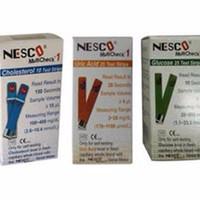 Jual Paket Strip Refill Nesco Kolesterol-Gula Darah-Asam Urat Murah