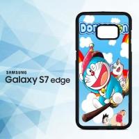 Casing HP Samsung Galaxy S7 Edge Doraemon Wallpaper X4292
