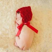 Kostum rajut foto bayi # topi red riding hood