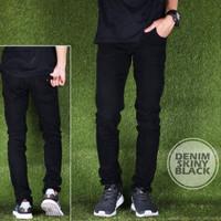 Jual Celana Panjang Cowok Denim Skinny Black Premium Murah