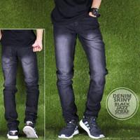 Jual Celana Panjang Cowok Denim Skinny Black Jazz Scraft Premium Murah