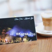 BLUE FIRE OF KAWAH IJEN POSTCARD KARTU POS UNIK KHAS INDONESIA SURAT