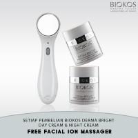 harga Biokos Derma Bright Day Cream & Night Cream Free Facial Ion Massager Tokopedia.com