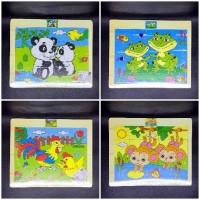 Puzzle Kayu Mainan Edukatif Gambar Anak TK PAUD Game Edukasi Murah