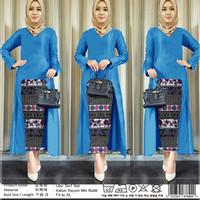 3 In 1 Setelan Muslim Model Kebaya, Batik Songket + Pashmina