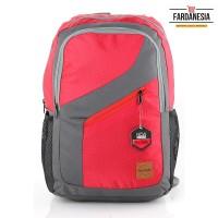 Jual Tas Ransel Sekolah/Kuliah/Kerja LOZ 350 Warna Merah Abu   Fardanesia Murah