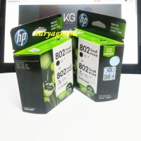 Tinta Printer HP 802 Combo Pack (Black-Color)