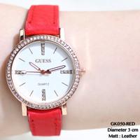 Jual BRANDED RECOMMENDED Jam tangan cewek fashion kulit guess mutiara grosi Murah