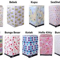 Jual Murah ! Sarung Cover Mesin Cuci FLOWER Tutup Washing Machine Anti Air  Murah