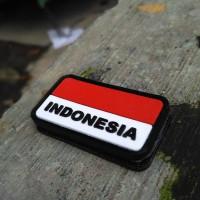 Jual rubber patch brevet perekat bendera indonesia Murah