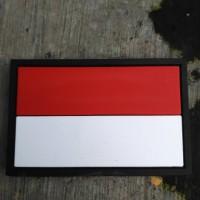 Jual rubber patch brevet perekat bendera merah putih Murah