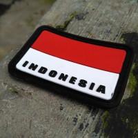 Jual rubber patch brevet perekat bendera indonesia merah putih Murah
