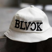 Topi Snapback Baseball Cap Bucket Hat BLVCK Putih Import
