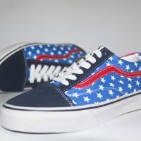 13d587d58b040c VANS Old Skool Bendera Amerika America Flag Sepatu Pria Wanita