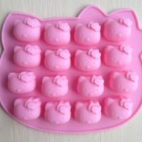 Jual Cetakan kity coklat es batu puding jelly hello kitty mold alat dapur   Murah
