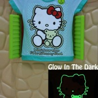 Jual Kaos / Baju Anak Glow In The Dark Hello Kitty IDKW Hijau Murah