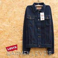 JAKET LEVIS JEANS COWOK BLUEBLACK - HITAM GARMENT HIGH QUALITY