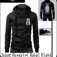 Jual Jaket Distro Murah Harakiri Rebel eight Owl black Murah