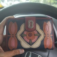 Jual Dompet fossil short wallet ruby flower Murah