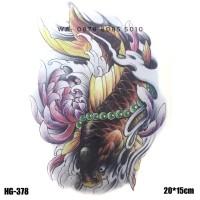 Jual HC-2003 Temporary Arm Tattoo 19x12CM Oriental Gold Koi Murah