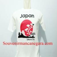 SOUVENIR KAOS WISATA SAKURA CITY NEGARA JAPAN