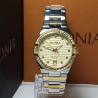 Jam Tangan Wanita Bonia BNR107-2127S Rosso Silver Gold Stainless Steel