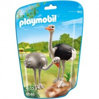 Figure Model Kit Playmobil Ostriches with Nest Burung Onta