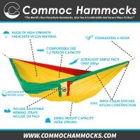 Parachute Hammock Commoc Hammocks Single XL Size Rasta