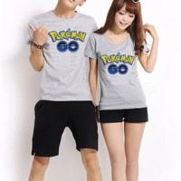 Jual HV5945 6 warna Kaos Couple POKEMON GO LOGO KODE BIS5999 Murah