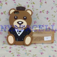 Case 4D Teddy Bear iPhone 5 5G 5S /Karakter/Moschino/Softcase/Soft/3d