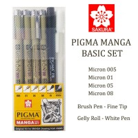 Sakura Pigma Manga Basic Set
