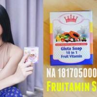 Jual Sabun Fruitamin Bpom / Gluta Soap 10in1 Untuk Pemutih Wajah & Badan Murah