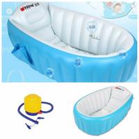 Jual maiinan anak kreatif Paket Intime Baby Bath Tub Blue + Pompa Bestway 5 Murah